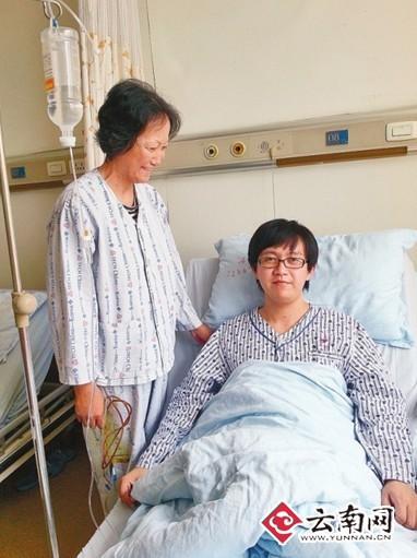 保山施甸一80后小伙施尤俊反哺孝心捐肝救母(图)