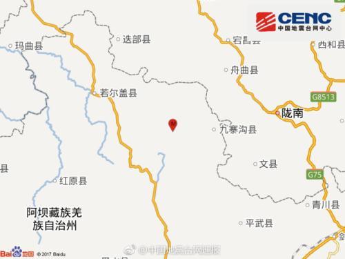 国家地震台网官方微博消息