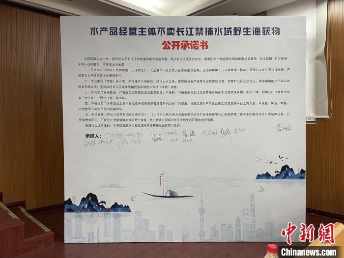 """全面落实长江""""十年禁渔""""上海开展长江禁渔行业自律倡议活动"""