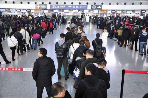 2018年春运期间成都机场预计运送出港旅客292万人次