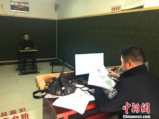 警方审讯犯罪嫌疑人 宜都警方 供图