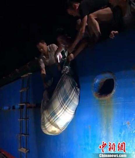 图为:救援现场。台州海事局供图