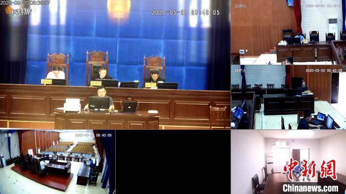 图为法院庭审现场。 百色边境管理支队供图 摄