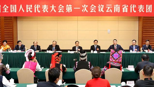 云南省代表团举行全体会议审议政府工作报告